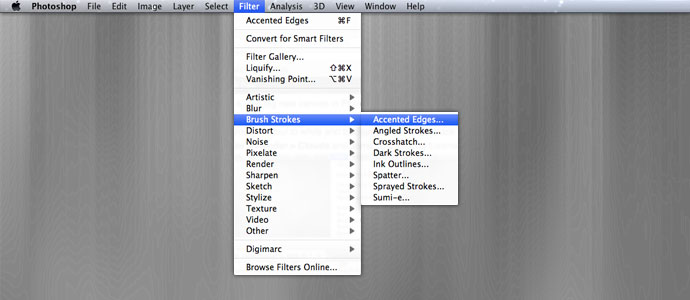 Photoshop Accented Edges filter